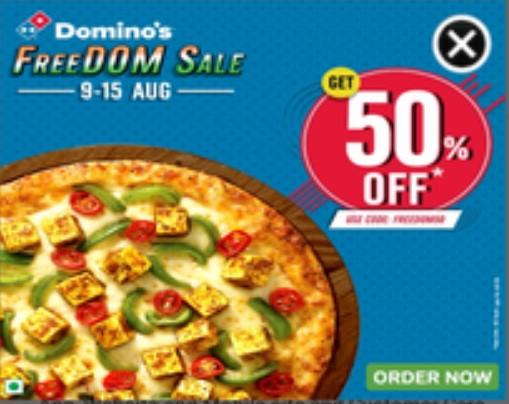 dominos freedom sale