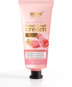 WOW SKIN SCIENCE Himalayan Rose Hand   Nail Cream   Softening   Rejuvenating   Lightweight   Non Greasy   Quick Absorb   for All Skin Types   No Parabens AllTrickz.jpg