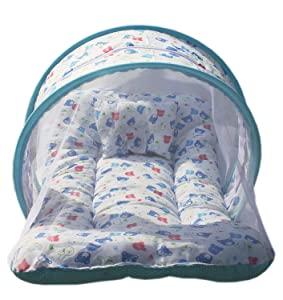 Nagar International Baby Bedding Set with Mosquito Net Cotton Mt 01 Blue New Born to 5 Months Baby AllTrickz.jpg
