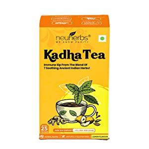 Neuherbs Kadha Tea Lemon Flavour 25 Teabags   Ayush Kadha for Immunity Booster AllTrickz.jpg