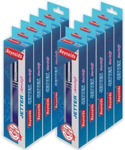 Reynolds Jetter Aerosoft Retractable blue Ball Pen Pack of 10 AllTrickz.jpg