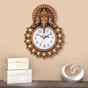 Webelkart Plastic Designer Stones Lord Ganesha Wall Clock for Home AllTrickz.jpg
