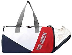 Fur Jaden Black 23L Duffle Gym Bag for Men with Separated Shoe Pocket and Attached Shoulder Strap… AllTrickz.jpg
