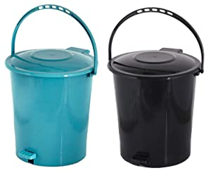 Kuber Industries 2 Pieces Plastic Dustbin Garbage Bin with Handle AllTrickz.jpg