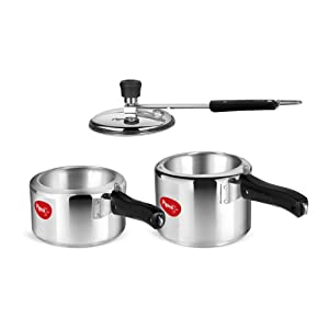 Pigeon by Stovekraft Aluminium Pressure Cooker 2 and 3 Litre Inner Lid with Induction base AllTrickz.jpg